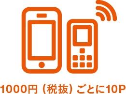 au携帯電話、固定通信サービス利用で貯める!