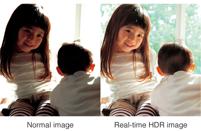 Normal image,Real-time HDR image