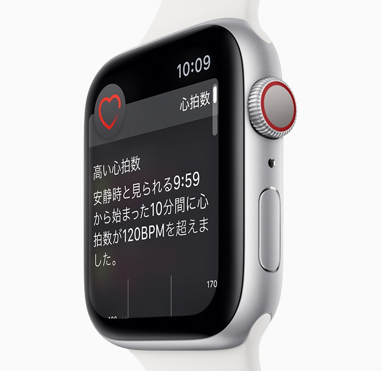 Apple Watch Series 4:常にあなたの心拍数をチェックしています。