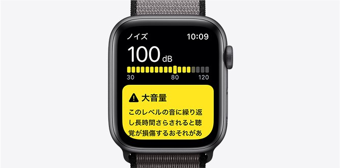 Apple watch 5 新しいノイズアプリ