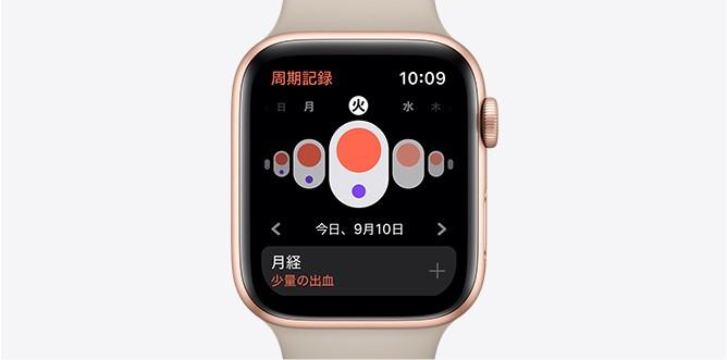 Apple watch 5 女性の周期記録