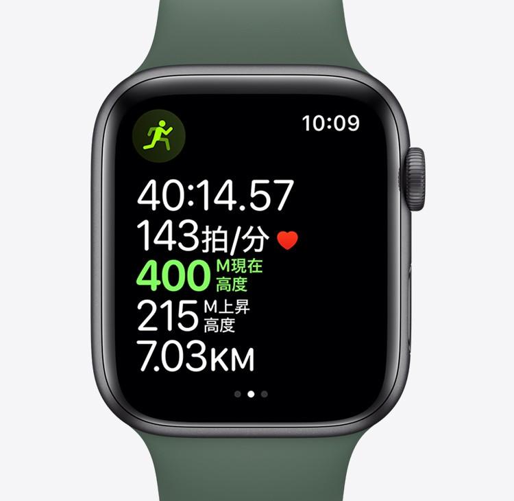 Apple watch 5 トレーニングの測定値