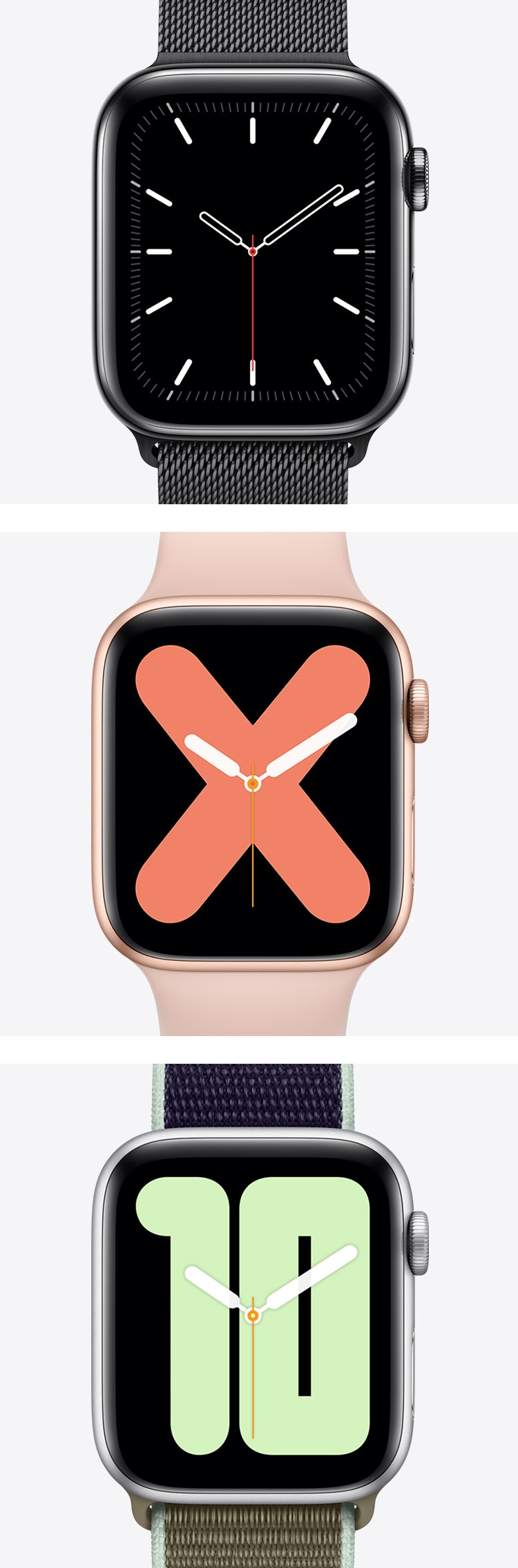 Apple watch 5 文字盤の種類