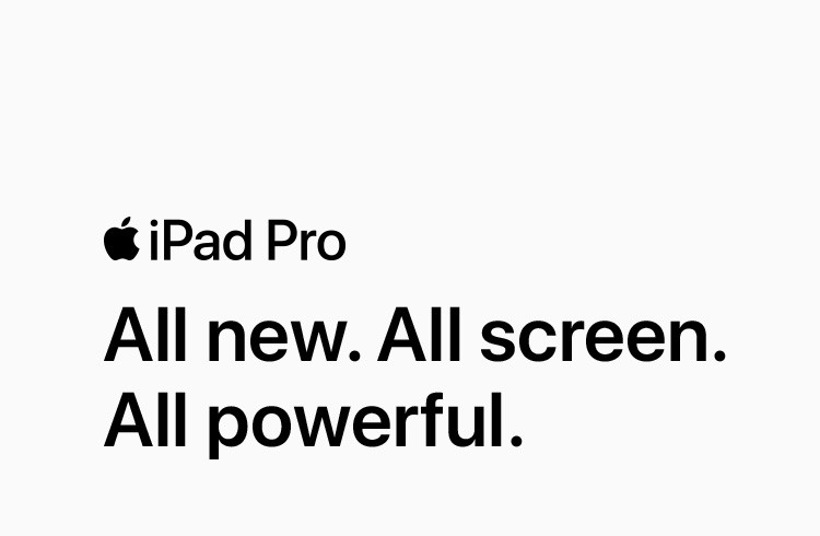 iPad All new. All screen. All powerful.