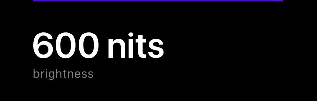 600 nits brightness