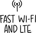 FAST WI-FI AND LTE