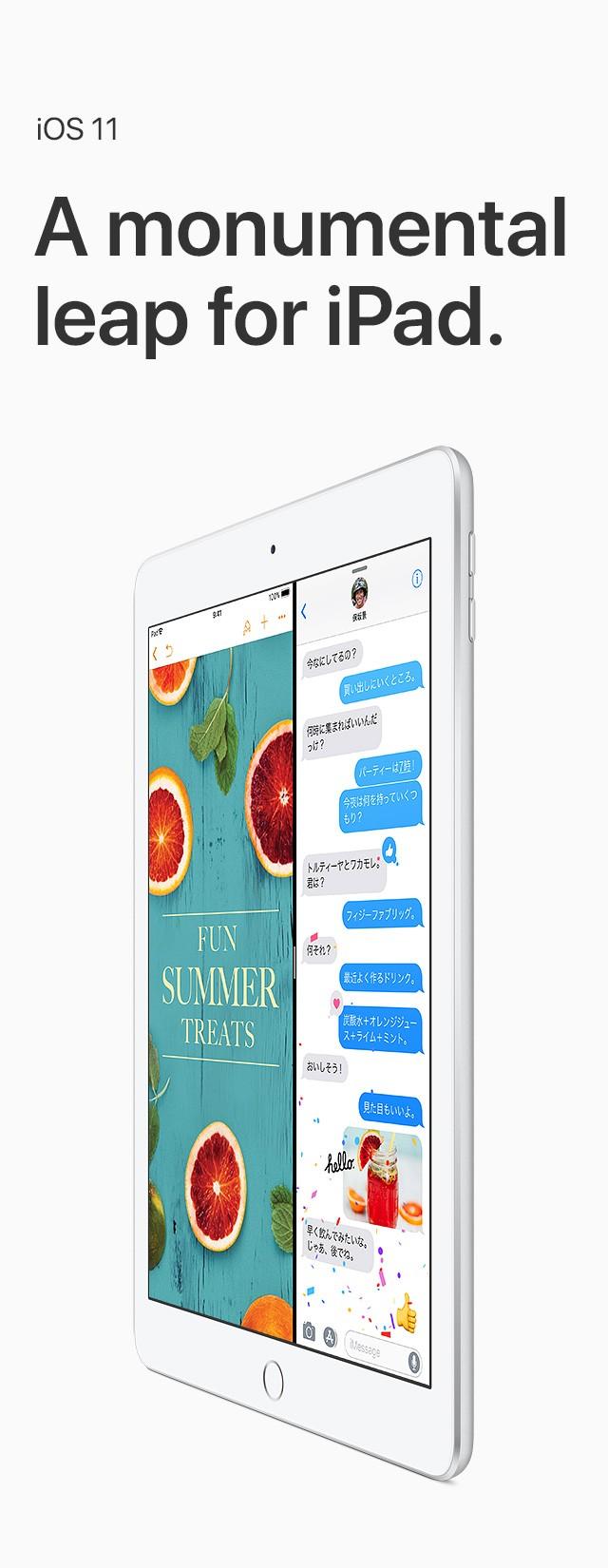 iOS 11 A monumental leap for iPad.