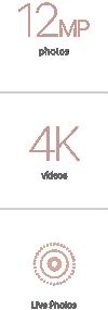 12MP photos/4K videos /Live Photos