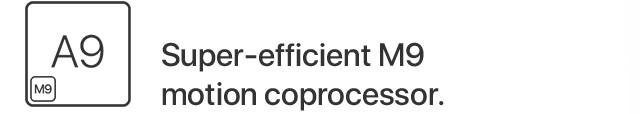 Super-efficient M9 motion coprocessor.