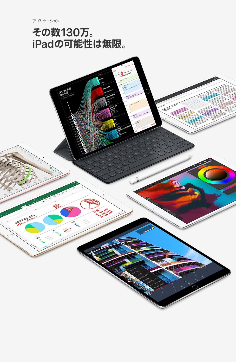 アプリケーション その数130万。iPadの可能性は無限。