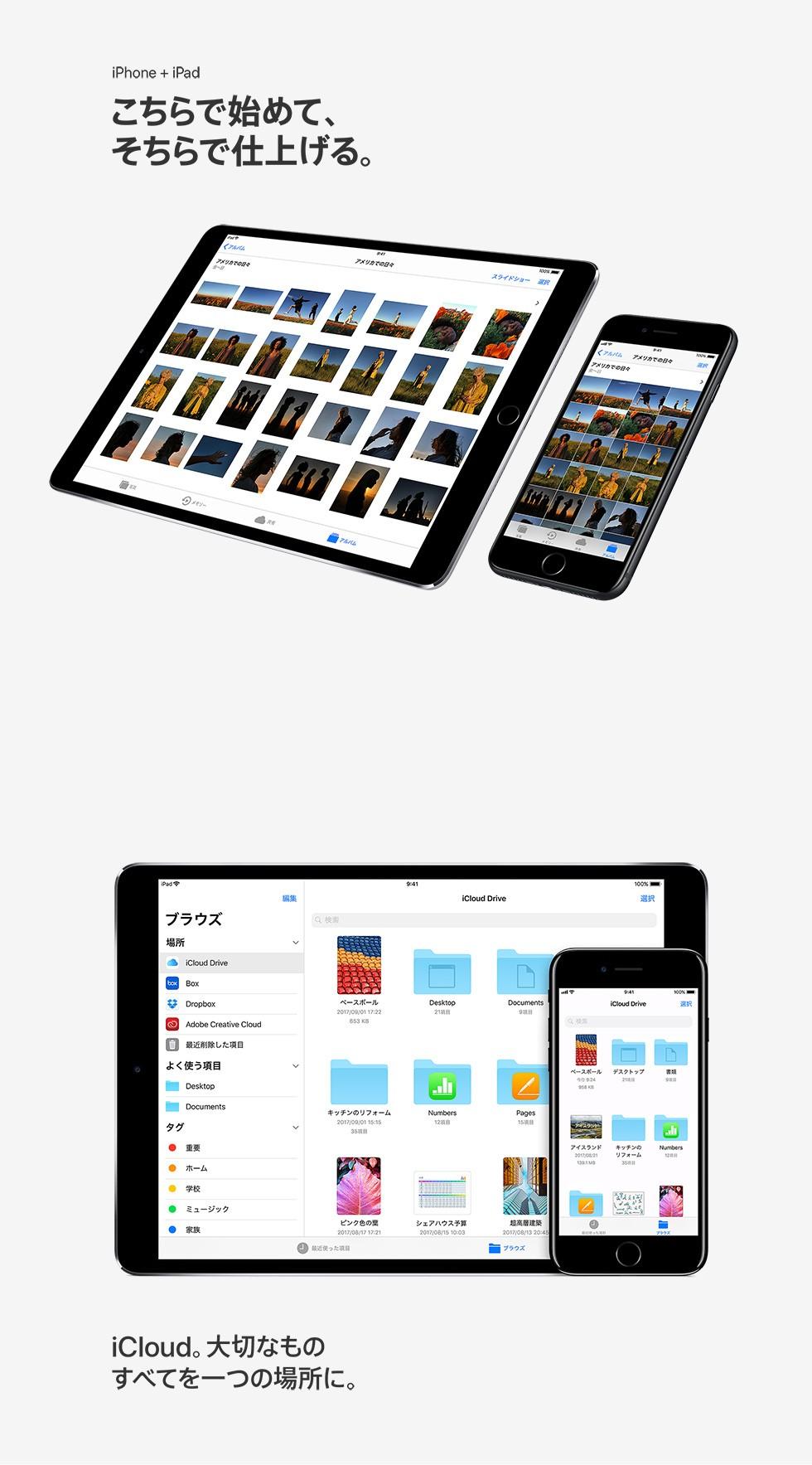 iPhone + iPad こちらで始めて、そちらで仕上げる。