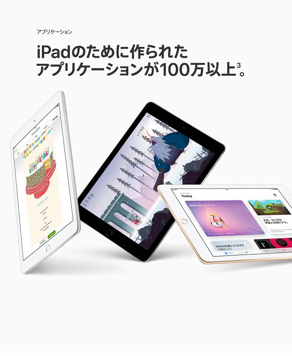 アプリケーション iPadのために作られたアプリケーションが100万以上3。