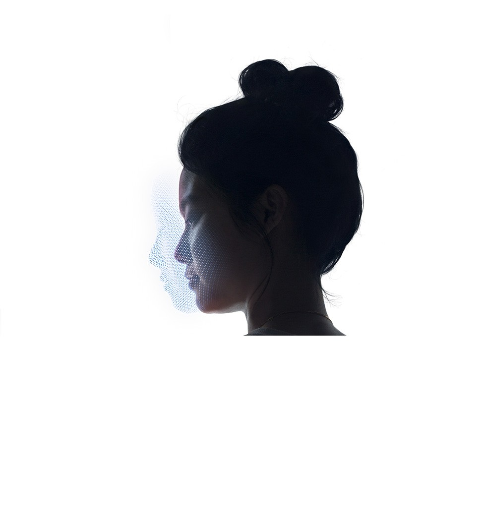 人の首より上、左向き側頭部の画像