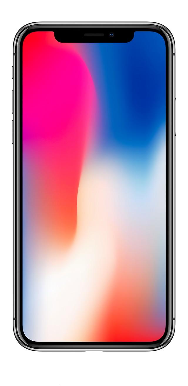 iPhone X スペースグレイの前面画像