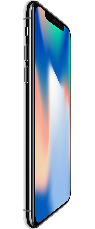 iPhone X シルバーの前面画像