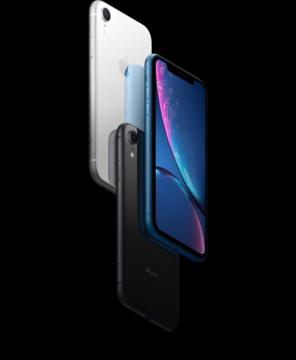 iPhone XR(テン アール)のLiquid Retinaディスプレイ。
