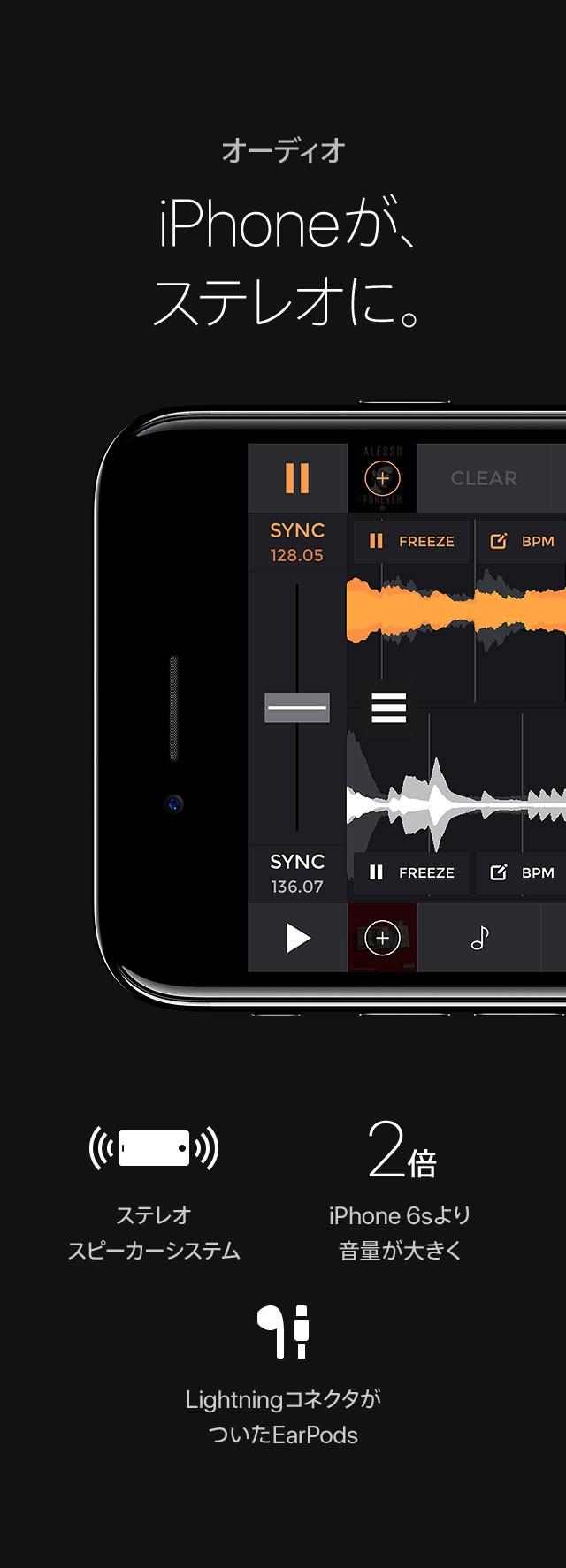 オーディオ  iPhoneが、ステレオに。