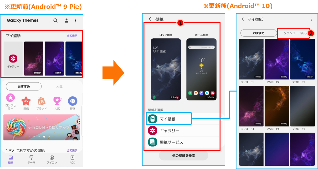 Galaxy S9 ギャラクシー エスナイン Scv38 Osアップデート情報 製品アップデート情報 Au