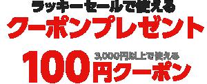ラッキーセールで使える100円クーポン