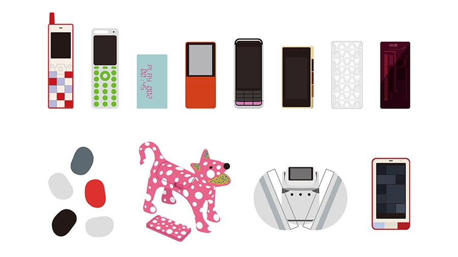 au Design project 15周年記念展覧会「ケータイの形態学 展 - The morphology of mobile phones -」を開催