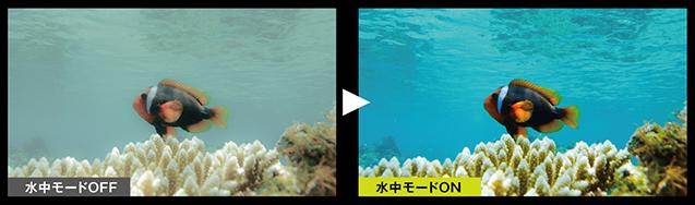 水中モードのイメージ画像