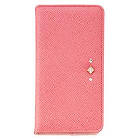 HTC 10 ポイントデコレーションブックタイプケース/ピンク