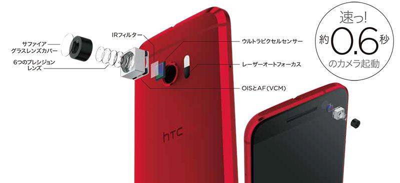HTC 10 HTV32メインもサブも光学式手ブレ補正搭載で、高画質な写真。