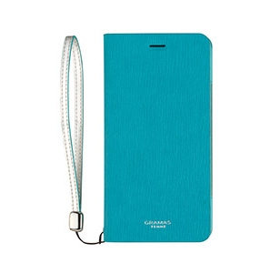 HTC U11 HTV33 GRAMAS FEMME Colo Flap Leather Case/ターコイズブルーの画像