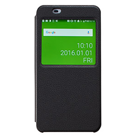 Qua phone PX 窓付ブックタイプケース/ブラックの画像