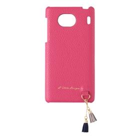 Qua phone QX タッセル付きハードカバー / ピンク