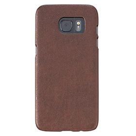 Galaxy S7 edge レザー調カバー/チョコブラウンの画像