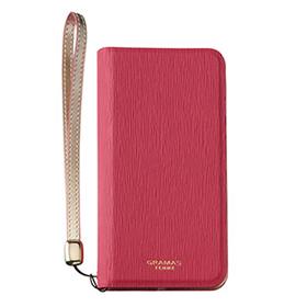 AQUOS SERIE mini SHV38   GRAMAS FEMME ブックタイプケース/ピンク
