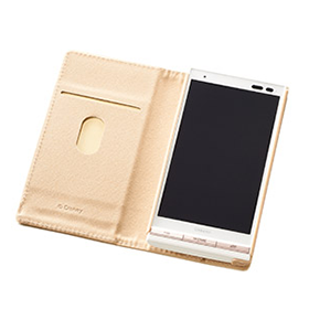 URBANO V01 ブックタイプケース/Disney pass Sketch-White